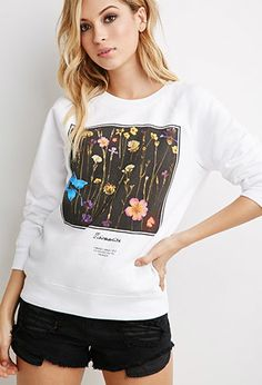 Sudadera Cuadrado Floral | Forever 21 - 2000161494