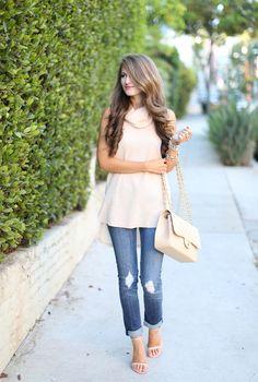 Camel colored sleeveless turtleneck sweater