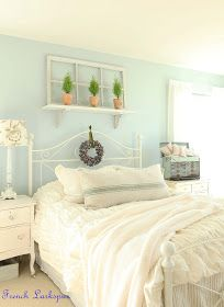 Vintage bedroom beautiful shabby chic country cottage style