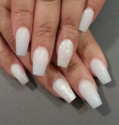 If it's hard to achieve those nails, you could buy false nails with the right shape. You don't really have to design or put nail polish on these if you want. But silver glittery nails as an accent could improve your look.