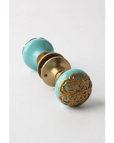 Flora Forever Doorknob need 2 of these for double doors in that lead into foyer Door Knobs And Knockers, Knobs And Handles, Knobs And Pulls, Door Handles, Drawer Pulls, Deco Originale, Home Hardware, My New Room, Tiffany Blue