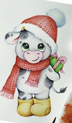 Santa Pictures, Christmas Pictures, Christmas Doodles, Christmas Crafts, Animal Drawings, Cute Drawings, Cartoon Charecters, Baby Animals, Cute Animals