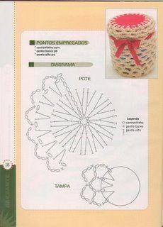 Tecendo Artes em Crochet: Potes decorados
