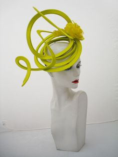 Dye to match service available for all bespoke orders. Millinery Hats, Fascinator Hats, Race Day Hats, Philip Treacy Hats, Derby Attire, Floral Fascinators, Ascot Hats, Diva Design, Head Jewelry