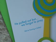 Funny Pregnancy Announcements - Forgot to Pray