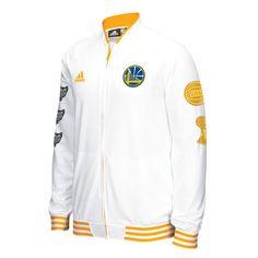 Men's Golden State Warriors adidas White Trophy Banner Full-Zip Jacket