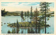 Silver Lake Amador County CA Stockton's Municipal Camp c1920s Postcard | eBay
