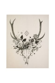 Antlers/flowers - Bridging the gap between the guy who wants a hunting room and the wife who wants flowers.