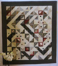 Quilting Patchwork Appliqué: A - Z : L = Log Cabin Modern Quilt Patterns, Quilt Block Patterns, Pattern Blocks, Quilt Blocks, Édredons Cabin Log, Log Cabin Quilts, Log Cabins, Quilting Projects, Quilting Designs