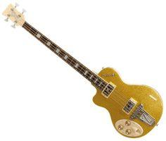 Italia-Maranello-4-String-Left-Handed-Bass-Guitar-Gold