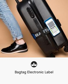 1893adce284 Bagtag Electronic Label  travel  luggage  tag  gadget Travel Gadgets