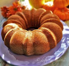 Gluten free pumpkin bundt cake - delish! If using flax eggs (1TBSP flaxseed & 3T water per egg), it'll need 1/2+ cups of milk. Made with chocolate chips, and it was yum!