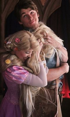 Rapunzel and Eugene - Love this! They'd make a cute couple in real life. :-)
