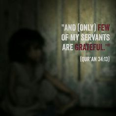 Only few of my servants are grateful Qur'an - ~♥ Islamic Qoutes, Islamic Teachings, Arabic Quotes, Quran Verses, Quran Quotes, Wisdom Quotes, Imam Ali Quotes, Noble Quran, Most Beautiful Words