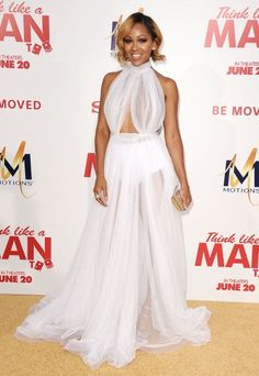 Fabulously Spotted: Meagan Good Wearing Michael Costello - 'Think Like A Man Too' LA Premiere - http://www.becauseiamfabulous.com/2014/06/meagan-good-wearing-michael-costello-think-like-a-man-too-la-premiere/