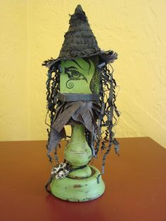 ELPHABA From Oz: The Great and Powerful.  Fabulous, one-of-a-kind Wizard of Oz inspired decor item. #oz