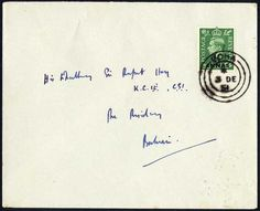 Qatar 1951 Dec. 3rd. Envelope franked with BPAEA King George VI 1 1/2a on 1 1/2d canceled by fine strike of DOHA cds (Donaldson #2) to the Political Agent in Bahrain. 1 1/2 Annas was the Local Letter Rate. Very rare letter from the early period of the Doha post office.    Dealer  Philagenta    Online Auction  0 bid(s)    Startprice:  750.00 EUR