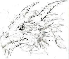 """Résultat de recherche d'images pour """"dragon head drawing"""""""