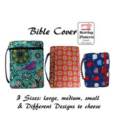 Zippered Bible Cover PDF Sewing Pattern   Craftsy