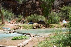 Havasupai Campground Review Havasupai Waterfalls, Arizona Waterfalls, Trip To Grand Canyon, Colorado River, Outdoor Camping, Adventure, Places, Camping, Lugares
