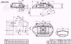 Image result for 18Z Brembo 6 piston caliper adapters