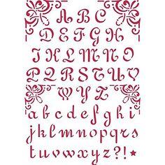 Stamperia KSG26 Stencil G 21x29, Alfabeto calligrafico 7 cm Stamperia http://www.amazon.it/dp/B0075KZNAK/ref=cm_sw_r_pi_dp_YV47ub0YQSHM2