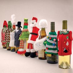 Wine Bottle Outfits via Cost Plus World Market >> #WorldMarket Holiday Gift Giving Ideas #GiftGuide