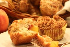 Streusel-Topped Peach Muffins with Peach Butter