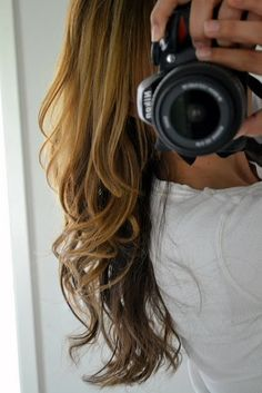 gotta try this once my hair grows a little more!...how to wavy curls: MOST important trick is to start your curl half way up the strand, it lasts waaaayyy longer. Leave the curling iron there for about 10 seconds. Then loosen the grip and pull the curling iron down to the end of your hair.  Then re-roll it all the way up to the top.