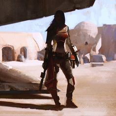 Girls of Star Wars Concept Art - Imgur by Wojtek Fus  Madalorian