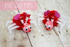 Using Valentine Tootsie Pops, I created these Love Bug Pops for the kiddo to pass out to his classmates! via createcraftlove.com #valentines...