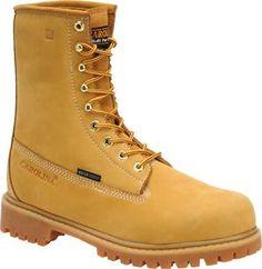 "Men's Carolina 8"" Waterproof Wheat Work Boot - Light Brown"