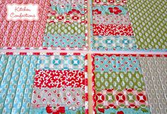 Patchwork Placemats - I love this fabric line - Vintage Modern by Moda!