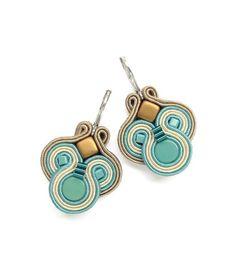 Turquoise Earrings Turquoise Chandelier Earrings di BeadsNSoutache