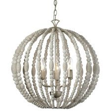 Features:  -Laura collection.  -Number of lights: 6.  -Finish: Palladium gold.  -Material: Wood/steel.  -Shade color: White.  -Painted.  Chandelier Type: -Mini chandelier.  Finish: -Palladium gold.  M
