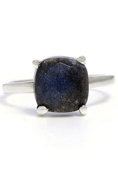 Rock Out! 35 Unique (Non-Diamond) Engagement Rings #refinery29 http://www.refinery29.com/58795#slide27 Nunu Labradorite Ring, $100, available at Greenwich Jewelers.