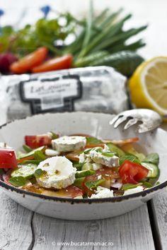 Salata cu branza de capra si oregano ~ bucatar maniac