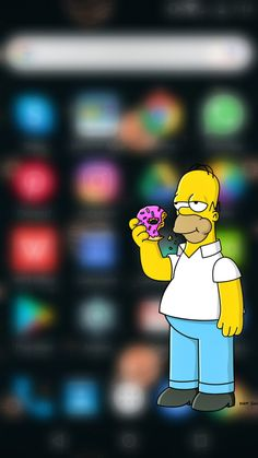 #homero #simpson #wallpapersimpson Bart Simpson, Iphone, Wallpaper, Fictional Characters, The Simpsons, Wallpapers, Homer Simpson, Wallpaper Desktop, Fantasy Characters