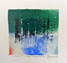 Natürlichen Rhythmen, 2015, tecnica mista, 9.5 x 9 cm