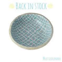 Lottie Of London's Polymer Clay Blog: Our Turquoise Ring Dish is now back in stock #lottieoflondonblog