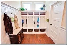 Mudroom . I have always wanted one. Especially with 3 kids