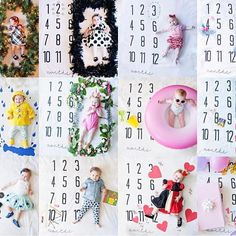 Kate growing through the year! Love love love seeing all of these and seeing how she grew! On our Monthly Milestone Blanket! August Baby, Monthly Baby Photos, Baby Monthly Milestones, Milestone Pictures, Baby Pictures, Diy Baby Girl Blankets, Baby Schmuck, Baby Monat Für Monat, Baby Milestone Blanket