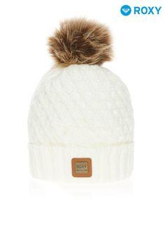 ceec951cf7865 Womens Roxy Snow Blizzard Pom Pom Beanie - Cream