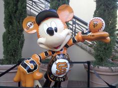 It can't get better than this...a GIANTS-loving Mickey Mouse!