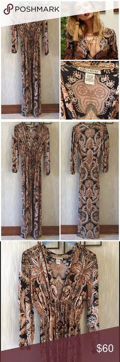 Novella Royale Midnight Alley Maxi Dress By Novella Royale. Golden paisley print maxi dress. Draw-string waist. 100% rayon. Made in USA. Novella Royale Dresses Maxi