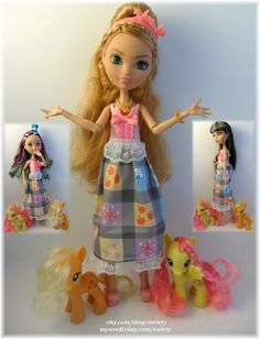 OOAK My Little Pony Dress Monster High / Ever After High by awiety, $18.50