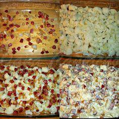 Cooking with love ! : CONOPIDA ALLA CARBONARA -DUKAN (BAKED CAULIFLOWER ALLA CARBONARA -DUKAN) Dukan Diet Recipes, Baked Cauliflower, Bread, Baking, Food, Brot, Bakken, Essen, Meals