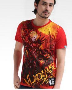 League of Legends Vladimir mens t shirt red short sleeve-
