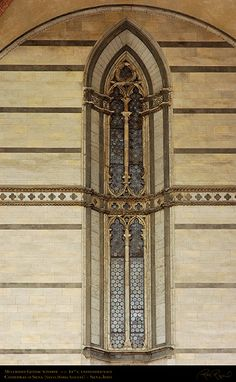 Siena, Duomo - Vetrata gotica.  Mullioned_Gothic_Window_Unfinished_Nave_6185