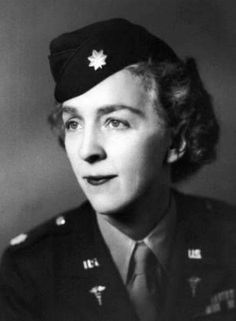 In 1943 Dr. Margaret Craighill became the first female doctor to become a commissioned officer in the United States Army Medical Corps. After WWII, she became a VA consultant for the care of women, the first position of its kind ~
